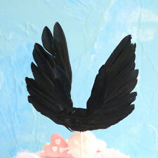 Swan wing Wedding Cake Topper For Valentines Day Decor Feather Party Supplies JP