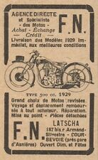 Y7492 Moto F.N. type 500 cc. - Pubblicità d'epoca - 1929 Old advertising