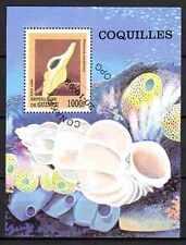 Animaux Coquillages Guinée (16) bloc oblitéré