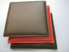 Sitzkissen, Bank-/Stuhlauflage in Dickleder nach Maß 39-42x39-42 cm in 24 Farben