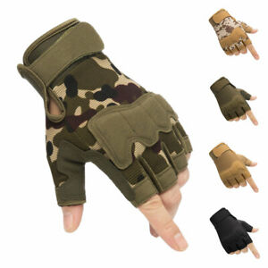Military Tactical Gloves Half Finger Motorcycle Army Combat Fingerless M/L/XL