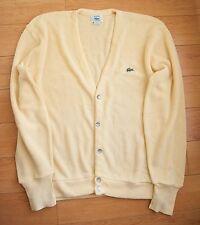 Lacoste Izod vintage  Mens  yellow cardigan sweater size L