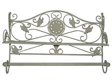Porte Serviette Etagere Deco Ancien Salle De Bains Vintage Shabby Chic Blanc