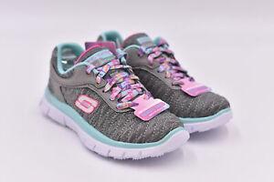 Youth Girl's Skechers Skech Appeal - Eye Catcher Sneakers, Grey / Aqua, 10.5M