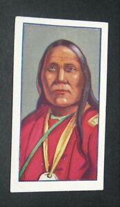 GODFREY PHILLIPS CIGARETTES CARD 1927 RED INDIANS #21 SATANTA KIOWAS WHITE BEAR