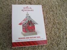 2014 Hallmark Ornament - Heaven and Nature Sing - Bird House - New in Box