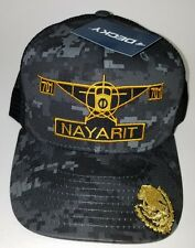 EL AVION DEL CHAPO NAYARIT   MEXICO  701 HAT 2 LOGOS DIGITAL HAT GRAY BLACK