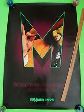 """1994 JIM CARREY """"THE MASK"""" 27"""" X 40"""" Rolled CAMERON DIAZ Preview Poster XLNT"""