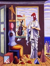 "La PITTURA engonopoulos poeta e Muse 12x16 ""Poster Art Print hp3293"
