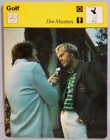 """The Masters Tourney of Champions Pro Golf Sportscaster 1978 6.25"""" Card 42-01"""
