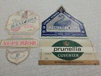 Lote Por 4 Etiquetas Licor Vintage Años 70