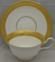 Wedgwood Ascot Peony Shape Footed Cup & Saucer Set