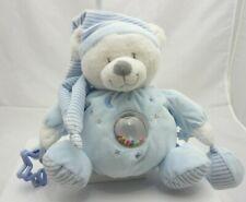 Max & Sax ours lutin velours bleu clair activité 30 cm assis environ