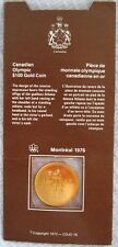 1976 $100.00 Montreal Olympic Gold Coin, 1/4 oz with all original packaging