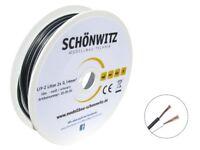 10m Zwillingslitze schwarz / weiß 2x 0,14mm² Litze zweiadrig Kabel auf Spule