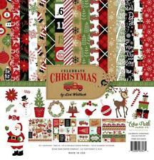 Echo Park CELEBRATE CHRISTMAS 12x12 Collection Kit Santa Scrapbook Planner