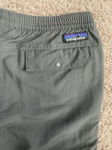Patagonia Baggies Men's S Forge Gray Pants 55211 Hiking Run Trail Outdoor