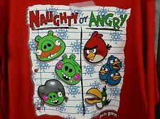 Boy XL 14/16, Christmas ANGRY BIRD Red shirt, Naughty or Angry, long sleeve