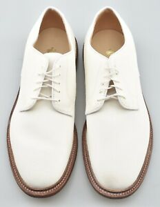 NEW WITH BOX | ALDEN 11D ARTHUR UNLINED SUEDE DOVER IVORY WHITE 29330F