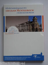 Netherlands 2011 Het 100 Jaar Muntgebouw Vijfje Euro Zilver Proof