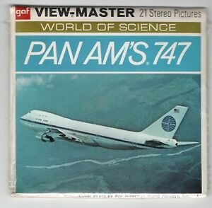 PAN AM'S Boeing 747 GAF 1970 View-Master Packet B-747 Sealed Mint