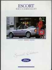 Ford Escort XR3i Cabriolet Special Edition 1988-89 UK Market Sales Brochure