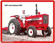 1967 International 656 Tractor  Refrigerator / Tool Box Magnet Gift Card Insert
