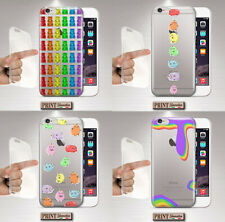 Cover for , IPHONE, Baking, Silicone, Clear, Rainbow, Aesthetic, Candy, Cute