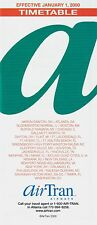 AirTran Airways Timetable  January 1, 2000 =