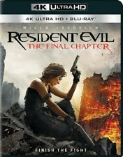 blu ray BIG Resident Evil: The Final Chapter 4k UK digital movie