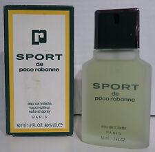 sport de paco rabanne 50ml EdT Eau de Toilette Spray NEU