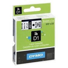 Genuine Dymo 45013 D1 S0720530 12mm x 7M Black on White Label Cassette