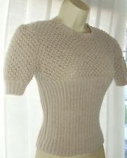 """💕Ladies Beige Jumper Handknit To Vintage 1940's Pattern size 32"""" - 34"""" Bust"""