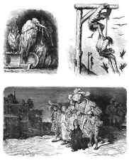 Gustave Dore gigantón Pantagruel 135 A4 Foto impresión