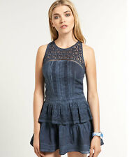 Womens Superdry Dresses Selection AE - Odessadress Cold Dye Navy XS