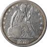 1872-P Seated Liberty Dollar Nice F Nice Eye Appeal Nice Strike