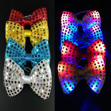 Creative Colors Flashing Light Up LED Bow Tie Bowtie Party Sequins Wedding Gift