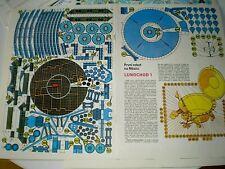 Lunokhod programme Lunokhod 1/ Czechoslovak rare Paper Model