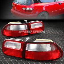 FOR 1992-1995 HONDA CIVIC EG EH EJ RED CLEAR TAIL LIGHT REAR BRAKE REVERSE LAMP