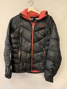 Black Red Women's Mountain Hardwear Zip Up Down Puffer Jacket Small