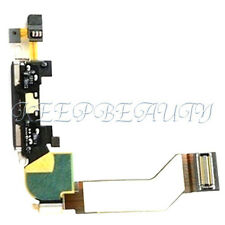 Charger Charging Dock Port Connector With Flex Cable Parts For iPhone 4S BK