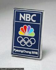 OLYMPIC PINS BADGE 2018 PYEONGCHANG SOUTH KOREA NBC SPONSOR RECTANGULAR RINGS