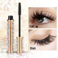 4D Flash Diamond Waterproof Silk Fiber Thick Lengthening Mascara Eye Makeup Tool