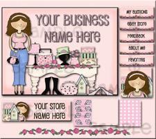 PINK GIRL CHIC BOUTIQUE SHELF BASIC EBAY STORE DESIGN