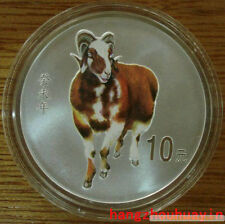 2003 China 1oz lunar series colorized silver goat coin