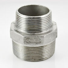 """2""""x1-1/2"""" Male Reducer SCREWED NIPPLE BSPT THREAD 304 STAINLESS STEEL FITTING"""
