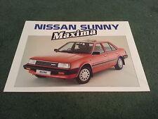 June 1985 Nissan SUNNY MAXIMA GS / SGL Special Edition - UK FOLDER BROCHURE