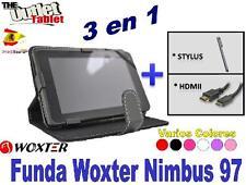 "PACK FUNDA PARA TABLET WOXTER NIMBUS 97 9.7"" + HDMI + STLYUS UNIVERSAL"