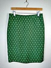 Maeve by Anthropologie Pencil Skirt US 4 UK 8 10 Green Material Circle
