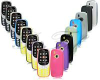 For Nokia 3310 2G 3G 4G New Genuine Black Clear TPU Gel Rubber Phone Case Cover